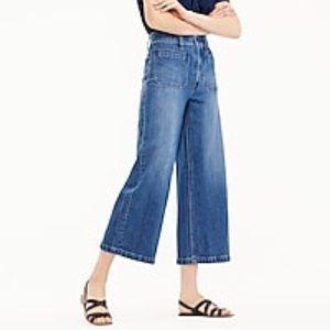 J Crew Point Sur Wide Leg Crop Jeans Size 29